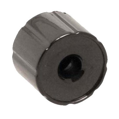 "Franklin Machine 222-1392 1"" Right Knob for Waring Toasters - Plastic, Black"