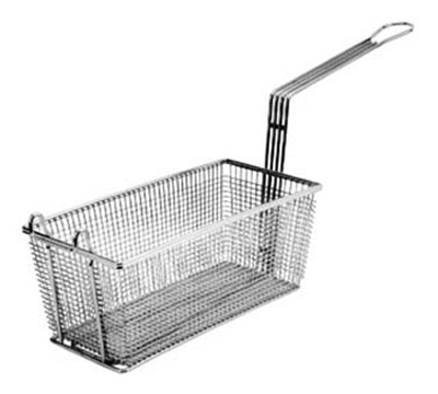 Franklin Machine 2251002 Half Size Fryer Basket, Nickel Plated