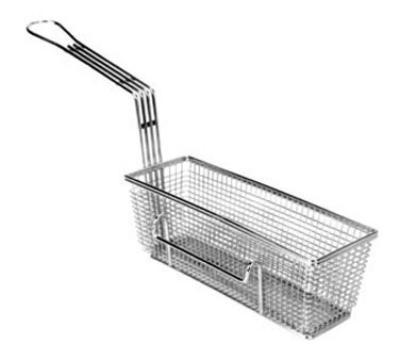 Franklin Machine 2251013RH Half Size Fryer Basket, Nickel Plated