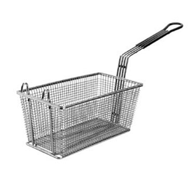 Franklin Machine 225-1063 Half Size Fryer Basket, Nickle Plated