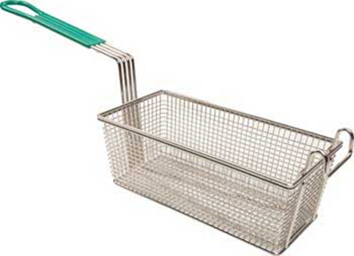 Franklin Machine 225-1082 Half Size Fryer Basket, Nickel Plated