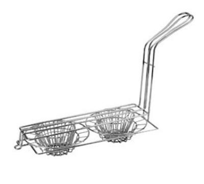 Franklin Machine 226-1100 Taco Fryer Basket w/ 2-Bowl Capacity