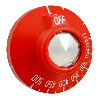Franklin Machine 228-1174 Dial for Vulcan Ovens & Ranges, Red