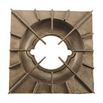 "Franklin Machine 228-1185 Spider Grate for Vulcan Ovens, Ranges, & Griddles - 11.87"" x 11.87"", Rough Cast Finish"