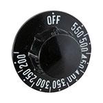 "Franklin Machine 228-1197 2.25"" Thermostat Knob for Vulcan Ovens & Ranges - Plastic, Black"