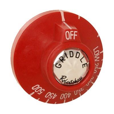 Franklin Machine 228-1217 Dial for Vulcan Ovens, Ranges & Griddles, Red