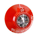 Franklin Machine 228-1272 Dial for Vulcan Ovens, Ranges, & Griddles - Red