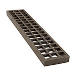 "Franklin Machine 231-1000 Broiler Coal Grate for Charbroilers - 4"" x 20"", Cast Iron"
