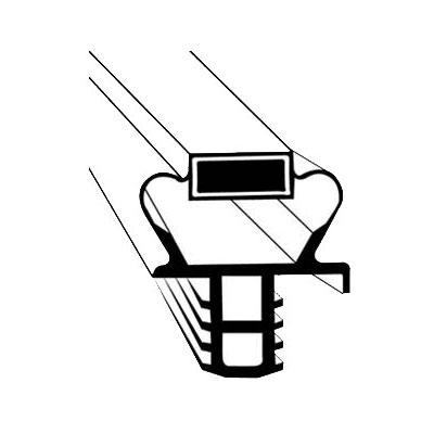 "Franklin Machine 235-1075 Push-In Gasket for Delfield Refrigerators & Prep Tables, 22.5"" x 25.75"""