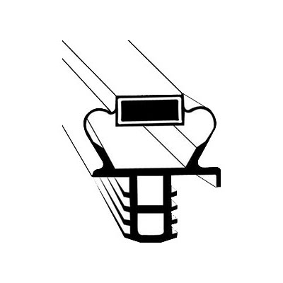 "Franklin Machine 235-1092 Push-In Gasket for Delfield Refrigerators & Prep Tables, 25.25"" x 25.5"""