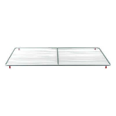 "Franklin Machine 235-1155 Epoxy-Coated Wire Shelf for Delfield Prep Tables - 14.25"" x 25.25"", Gray"