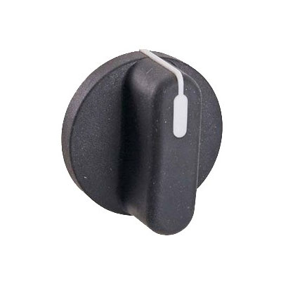 "Franklin Machine 236-1017 1.63"" Control/Timer Knob for Accutemp Steamers & Nu-Vu Proofer Ovens - Plastic, Black/White"