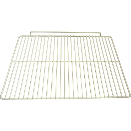 "Franklin Machine 237-1219 Epoxy-Coated Wire Shelf for Beverage Air SPE72, UCR, & WTR72A Models - 16.5"" x 22"", White"