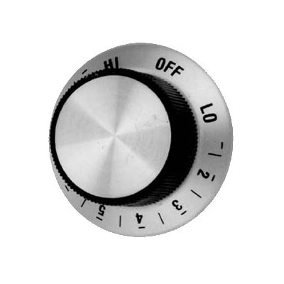 "Franklin Machine 244-1020 1.81"" Heat Control Dial for Holman Toasters, Ovens, & Cheesemelters"
