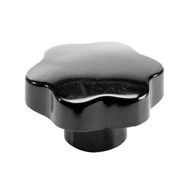 "Franklin Machine 248-1011 2.75"" Carriage Arm Knob for Univex Slicers - Plastic, Black"