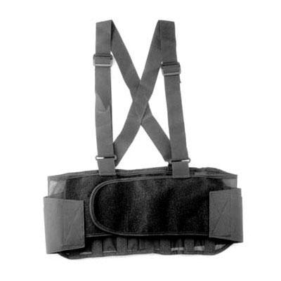 """Franklin Machine 280-1512 XX-Large Back Support Belt w/ Shoulder Straps - Fits 50"""" - 54"""" Hips, Black"""