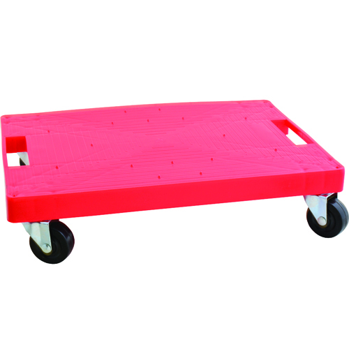 Franklin Machine 280-1973 Case Cart w/ (5) Casters, Plastic, Red