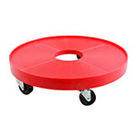 Franklin Machine 280-1975 Bucket Dolly for 5-gal Buckets, (5) Casters, Plastic, Red