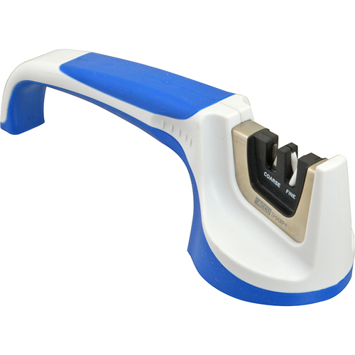 Franklin Machine 280-2052 Pull-Through Knife Sharpener, Blue & White Handle