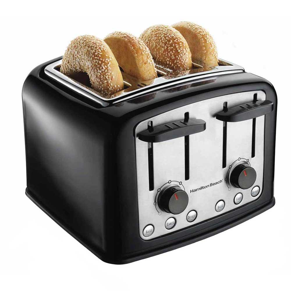 Hamilton Beach 24444 4-Slice Toaster w/ Extra Wide Slots ...