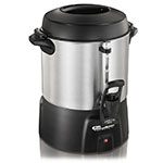 Hamilton Beach 45040 40-Cup Coffee Urn w/ Dual Heaters & Tall Base, 120 V