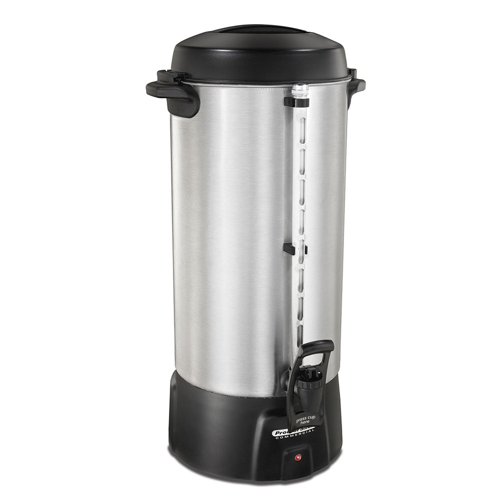 Hamilton Beach 45100 100-Cup Coffee Urn w/ Dual Heaters & Tall Base, 120 V