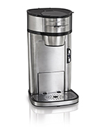 Hamilton Beach 49981 Scoop® Single Cup Drip Coffee Maker w/ Auto Shut-off, Stainless