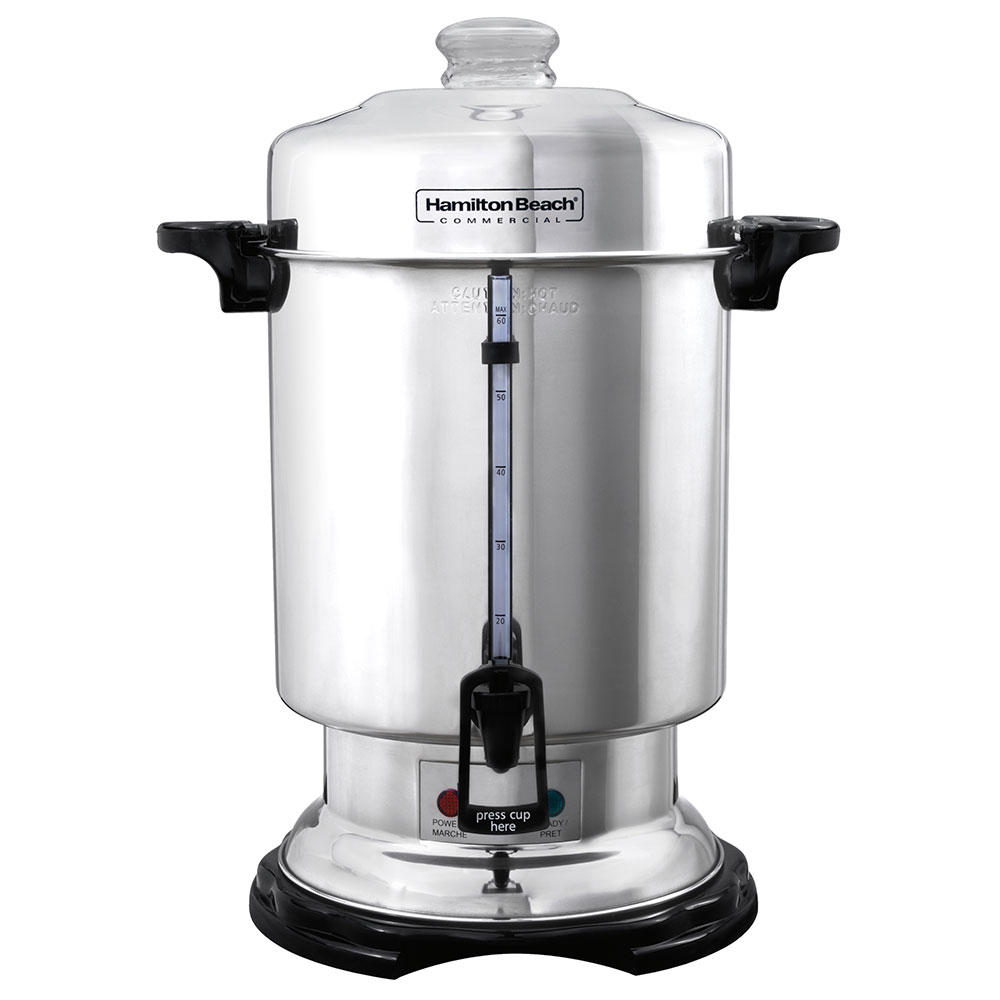 Cleaning Large Coffee Maker : Hamilton Beach D50065 60-Cup Coffee Urn Percolator, Water/Coffee Window, 120 V