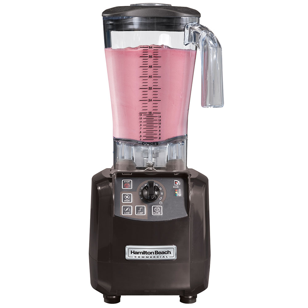 Hamilton Beach HBH650 Bar Blender, 64-oz Polycarbonate Container, Timer & Pulse