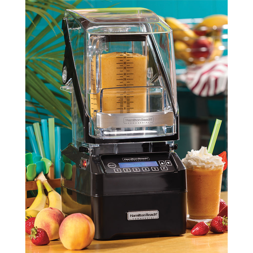 Hamilton Beach HBH750 Countertop Drink Blender w/ Polycarbonate Container, Programmable