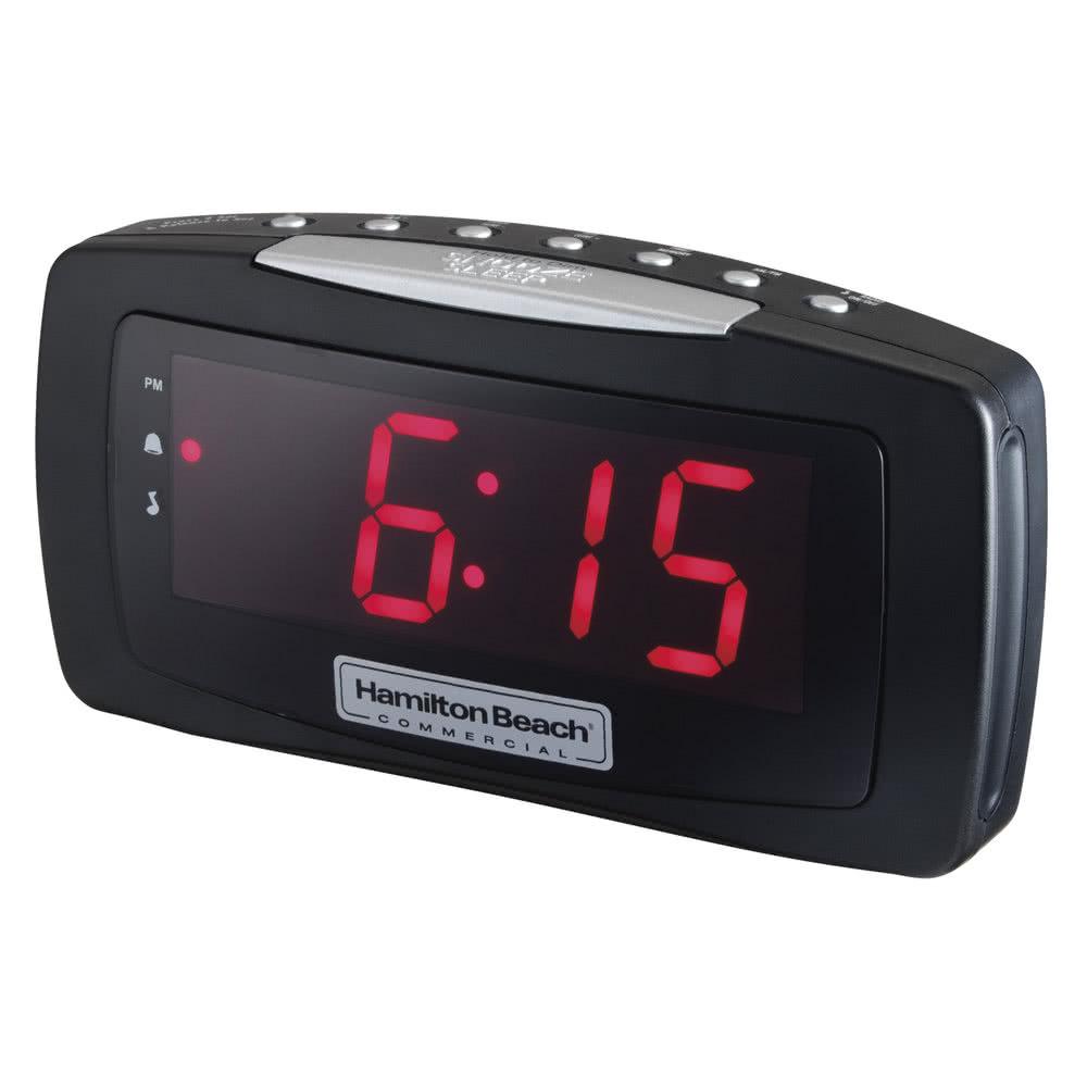 Hamilton Beach HCR330 Alarm Clock Radio w/ Snooze Bar - B...
