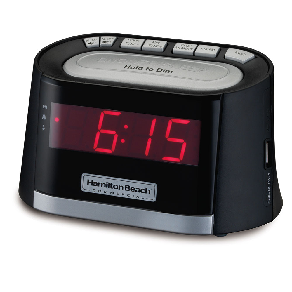 Hamilton Beach HCR410 Alarm Clock Radio w/ USB Charging Port - AM/FM, 120v