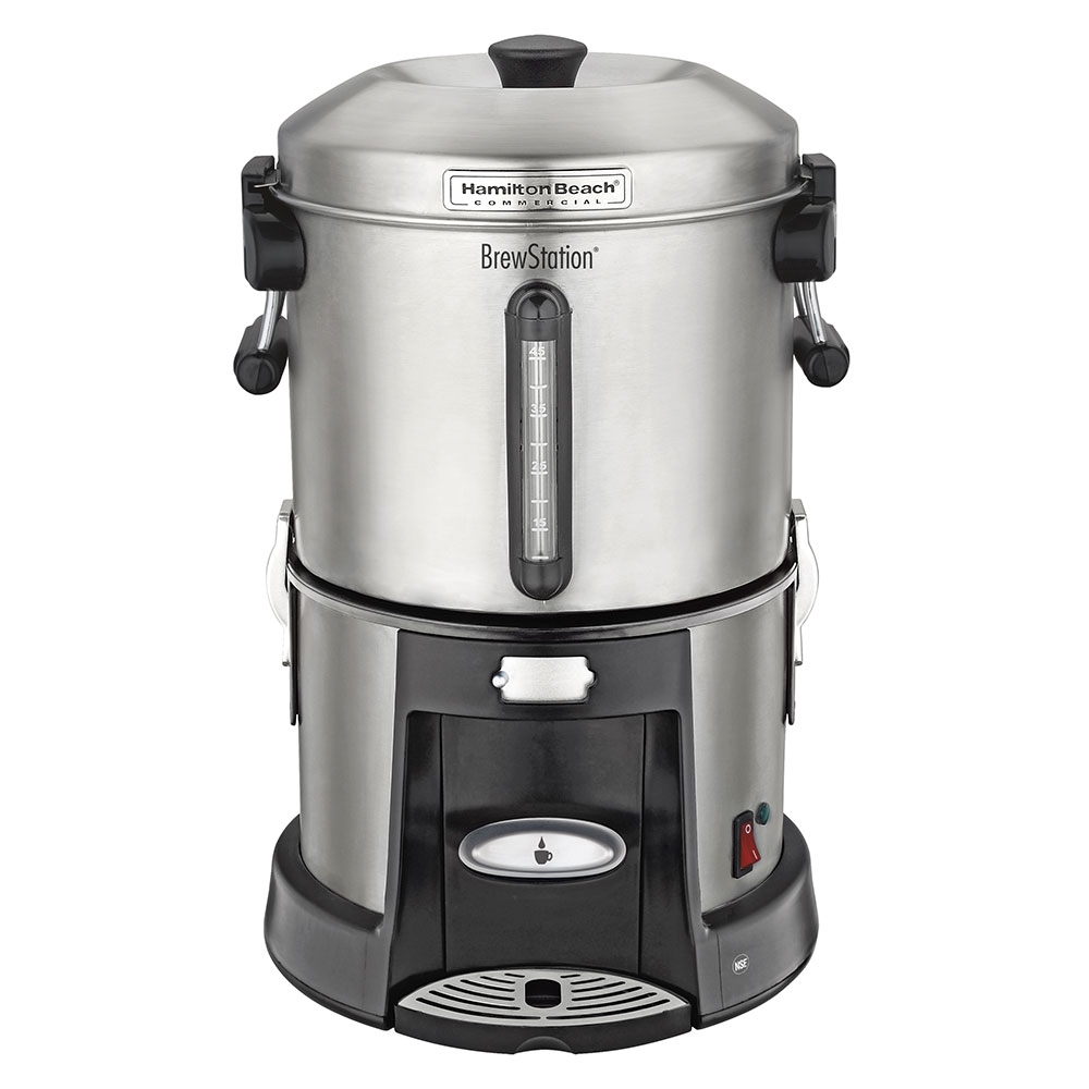 Hamilton Beach HCU045S Single Station Urn w/ 45-Cup Capacity & 2-Heater System, Stainless