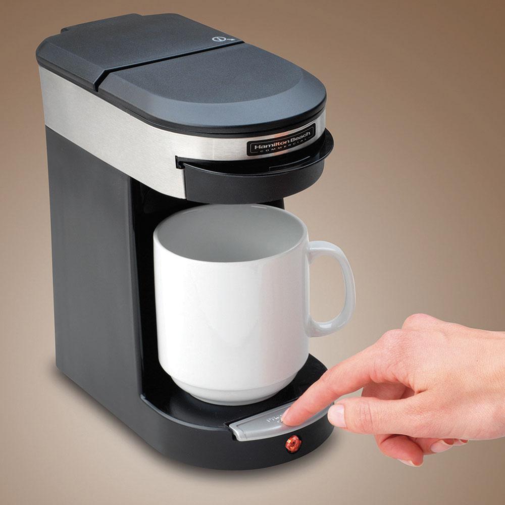 Hamilton Beach HDC200S 1-Cup Coffee Maker w/ Auto Shut-Off - Black, 120v