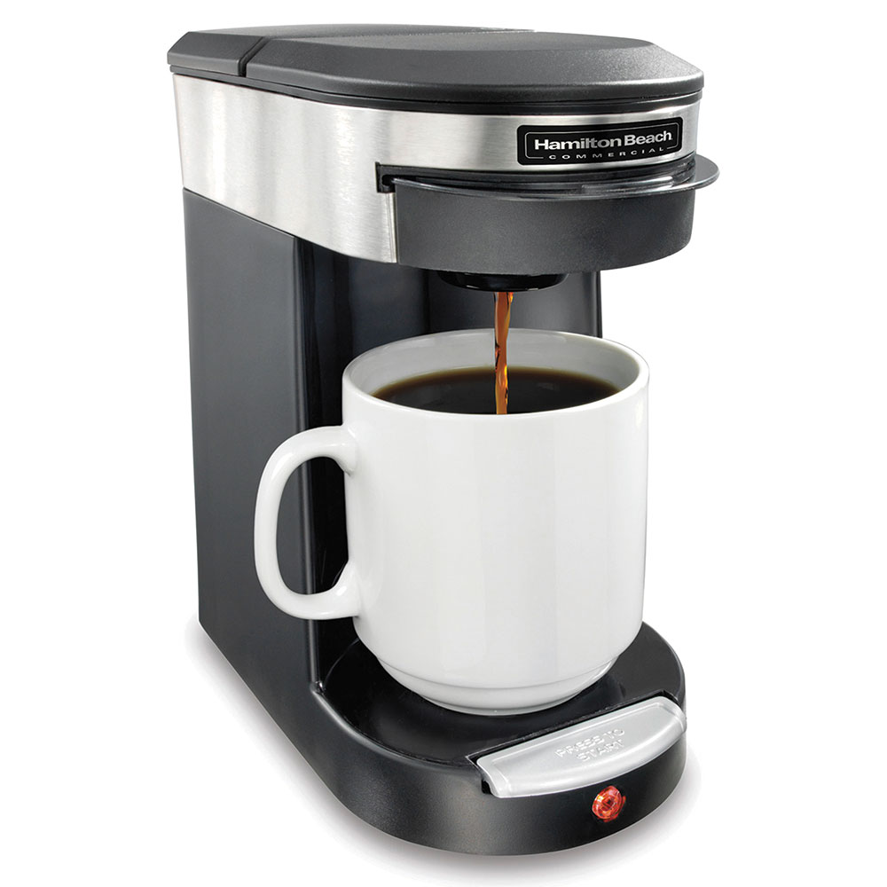 Hamilton Beach HDC200S 1-Cup Coffee Maker w/ Auto Shut-Off - Black, 120v