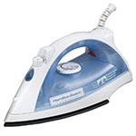 Hamilton Beach HIR200R Lightweight Iron w/ Adjustable Steam - White & Blue, 120v