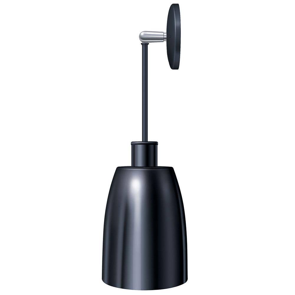 "Hatco DL-600-PN Heat Lamp, 1-Bulb, 8.5 x 6.12"", Rigid Mount to Canopy, No Switch"