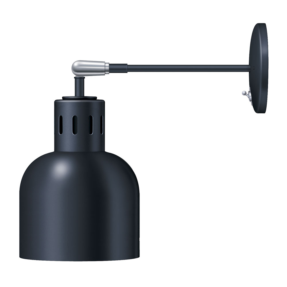 Hatco DL-700-AU Heat Lamp, 1 Bulb Type, 700 Shade, Rigid Mount w/Pivot, Upper Switch