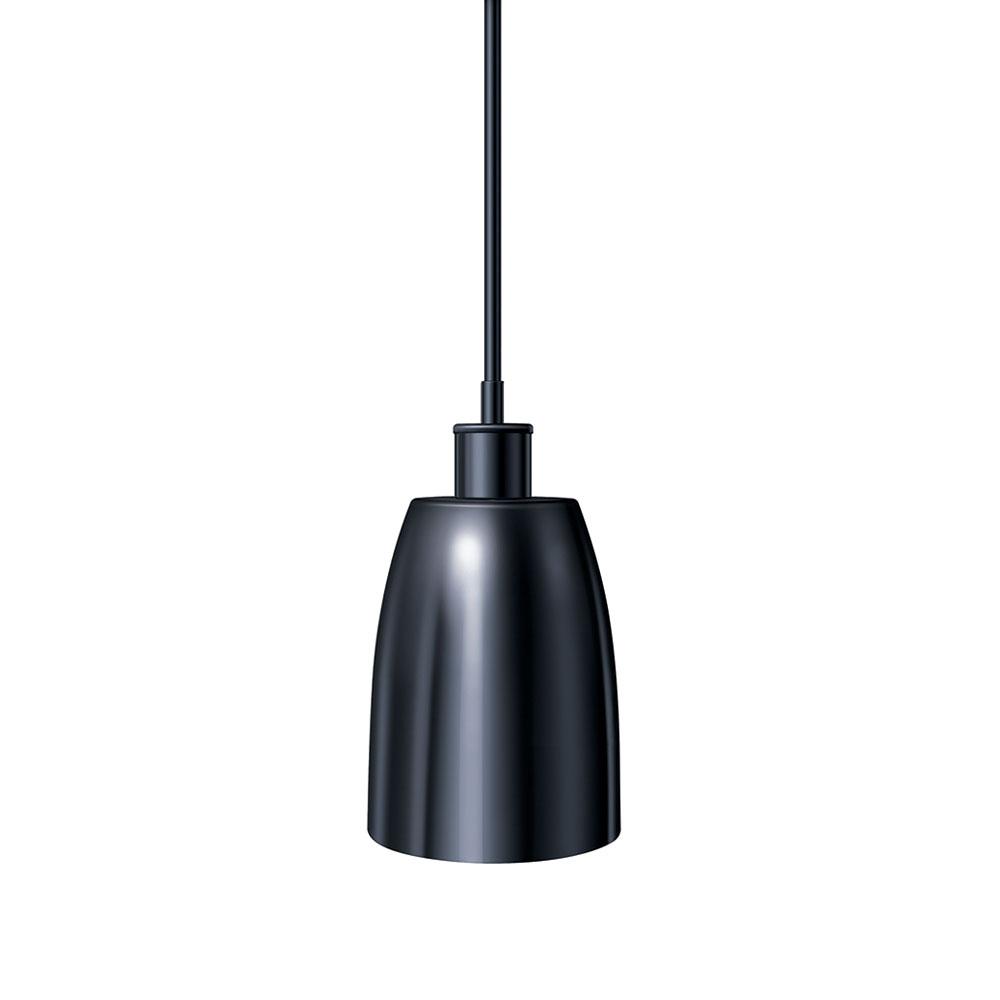 "Hatco DLH-600-STR High Watt Heat Lamp, 8.5 x 6.12"", Rigid Stem Mount to Track, Remote Switch"