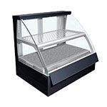 "Hatco FSCD-2PD 34.34"" Full-Service Countertop Heated Display Case w/ Curved Glass - (2) Levels, 120v"