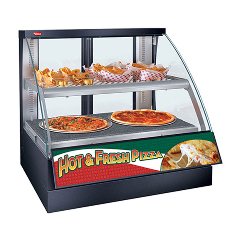 Hatco FSCDH-2PD Heated Display Case w/ Humidity & Curved Glass, 2-Pan Double Shelf, Digital