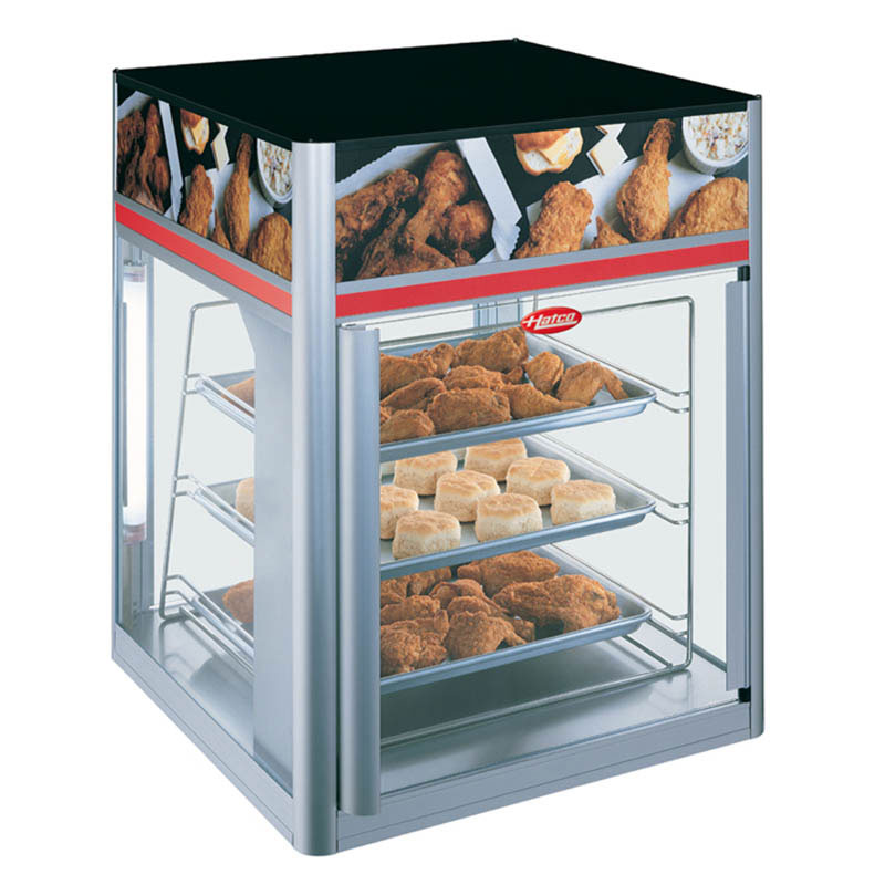"Hatco FSD-1X 22.42"" Full-Service Countertop Heated Display Case - (3) Shelves, 120v"