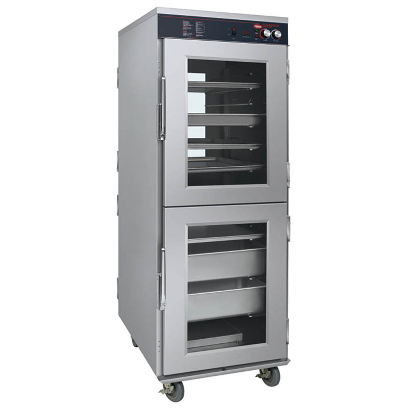 Hatco FSHC-17W2D 120 4-Door Pass-Thru Humidified Holding Cabinet, 17-Tray Slides, 120 V