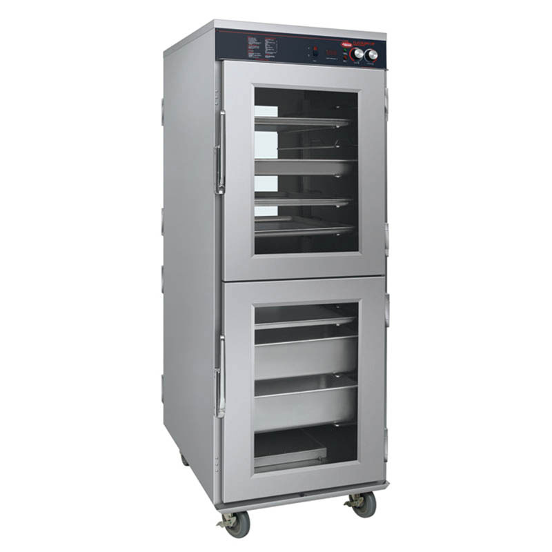 Hatco FSHC-17W2D 240 4-Door Pass-Thru Humidified Holding Cabinet, 17-Tray Slides, 240 V