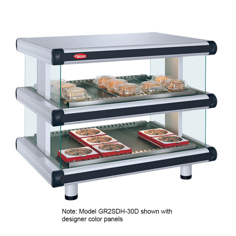 Hatco GR2SDH-24D Designer Horizontal Display Warmer, 2 Shelves w/ 10 Rods, 1340 W