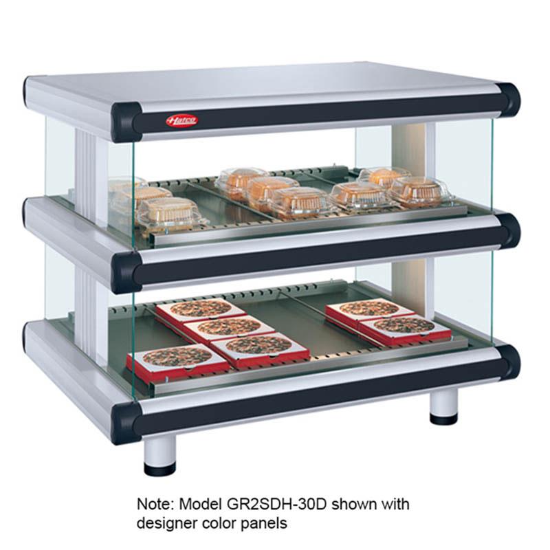 Hatco GR2SDH-48D 208 Horizontal Display Warmer, 2-Shelves w/ 18-Rods, 120/208 V