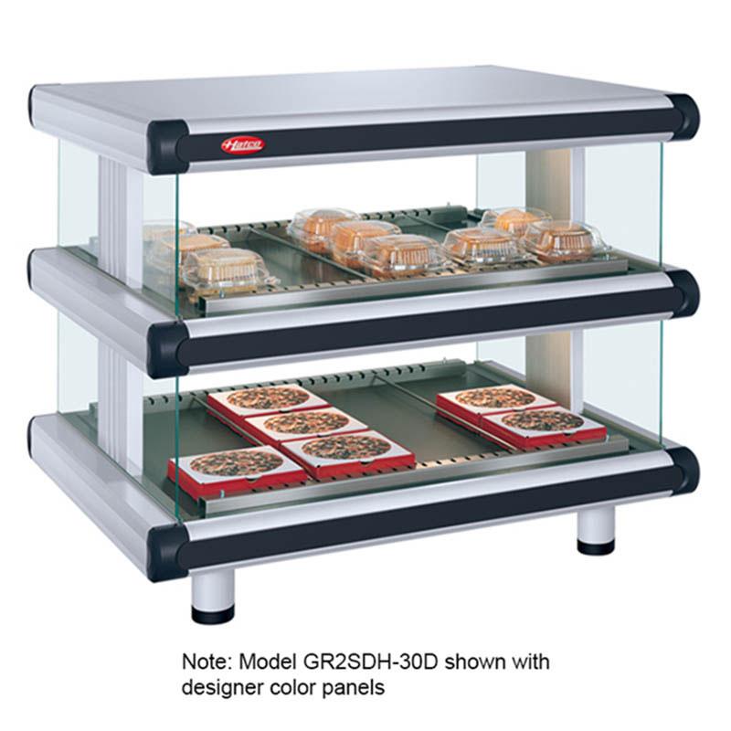 "Hatco GR2SDH-54D 60.25"" Self-Service Countertop Heated Display Shelf - (2) Shelves, 208v/1ph"