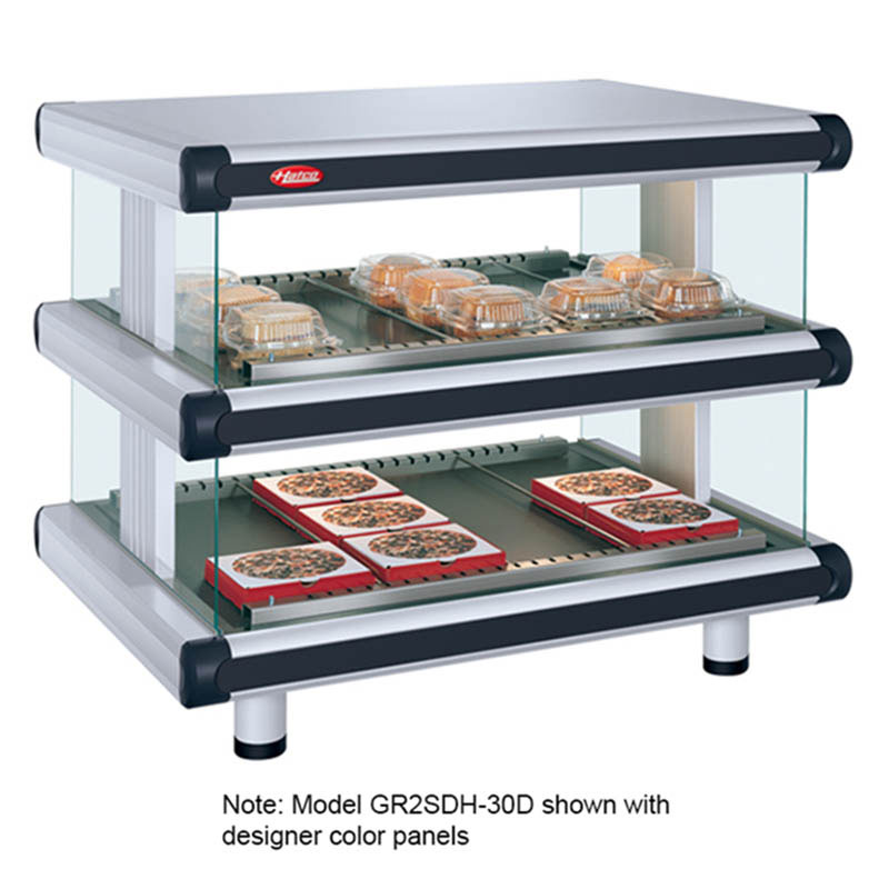 "Hatco GR2SDH-54D 240 60.25"" Self-Service Countertop Heated Display Shelf - (2) Shelves, 240v/1ph"