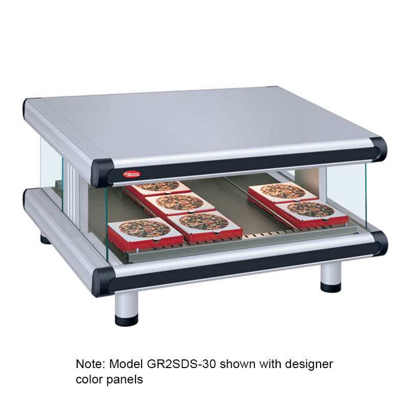 "Hatco GR2SDS-24 30.25"" Self-Service Countertop Heated Display Shelf - (1) Shelf, 120v"