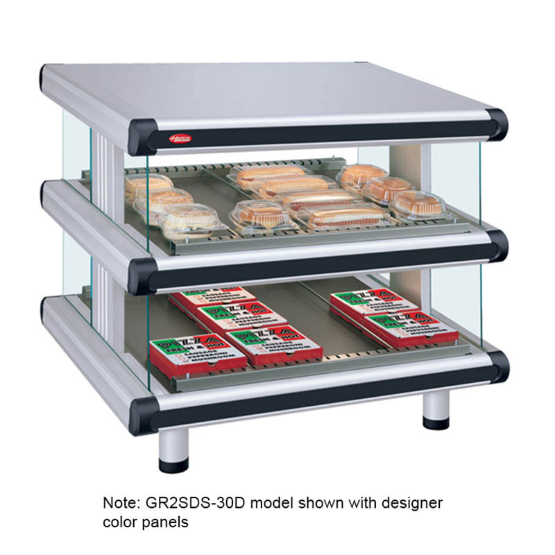 Hatco GR2SDS-30D 240 Slant Display Warmer, 2-Shelves w/ 12-Rods, 120/240 V
